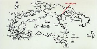 St. John Vacation Rental Villa location