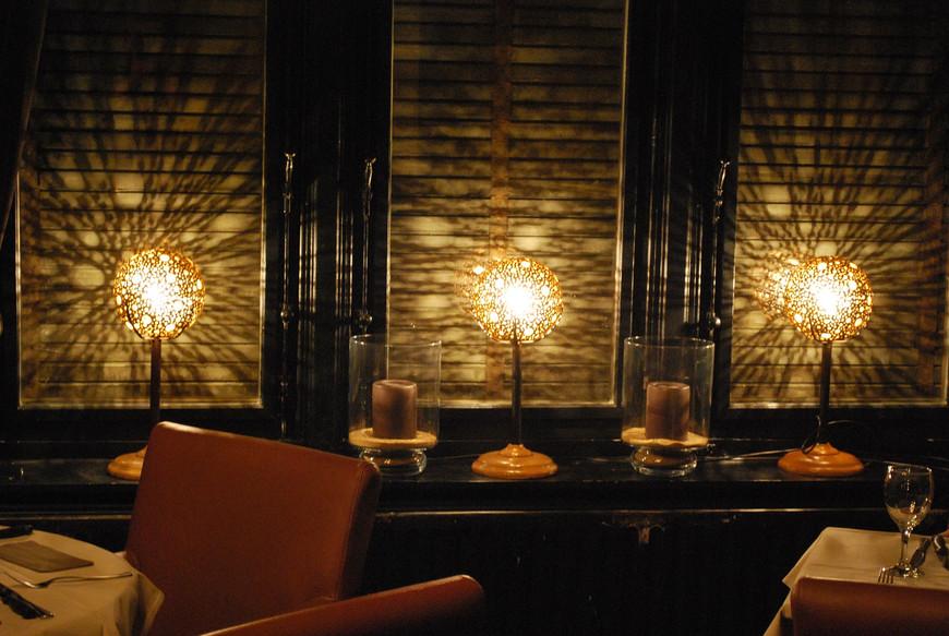 bollampen in restaurant Troubadour in Leuven
