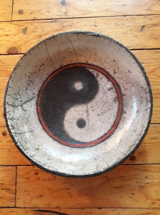 raku schaal yin yang 55€