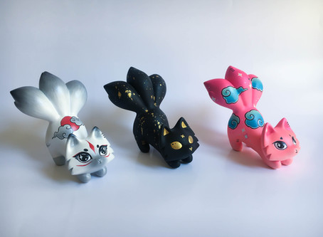 The first-ever & most rare Fluff Riot Art Toys!