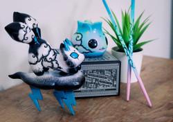 Goddess of Destruction Khali & Tiny Ghosthunter Dumpling