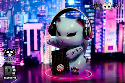 FluffRiot_DJManekiNeko_Designer_Art_Toys