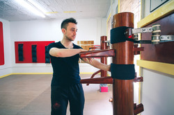 Sifu Alex training Wooden Dummy