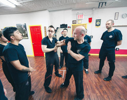 Sifu Alex teaching advanced class