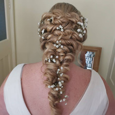 Mermaid bridal hair