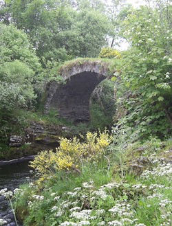 Packhorse Bridge over the River Livet