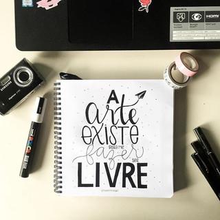 A ARTE EXISTE PARA NOS FAZER LIVRE