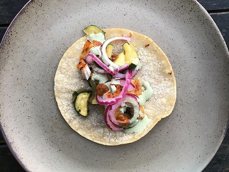 Taco magic : Fish and courgettes