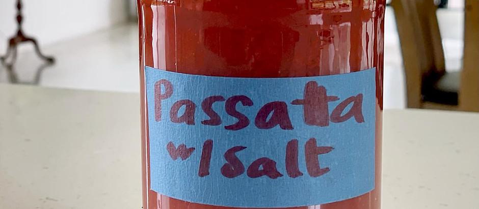 Tomato Passata- cook now, eat later