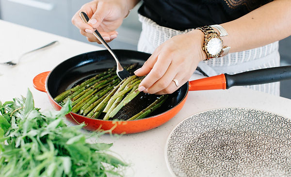 Easy cooking, asparagus, grilling