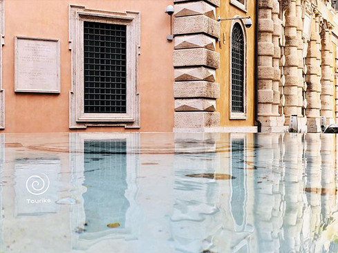 In the eyes of water, in ROME ._...first