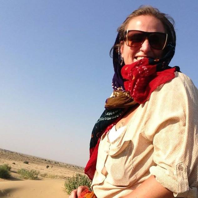 Camel tour in India
