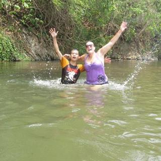 My swimming buddies in Thailand