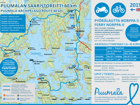 Puumalan saaristoreitti pyöräillen / PUUMALA ARCHIPELAGO by bike