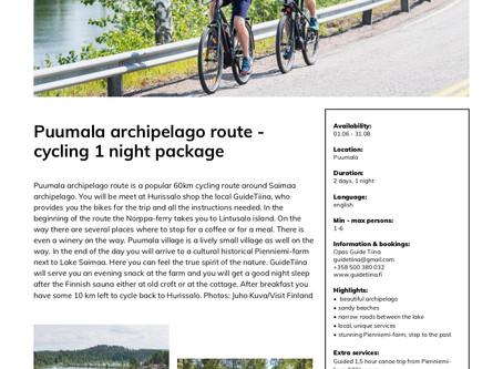Puumala archipelago route – experience the Saimaa archipelago by bike