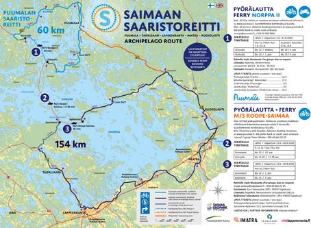 Saimaan saaristoreitin pyörälauttojen aikataulut 2020