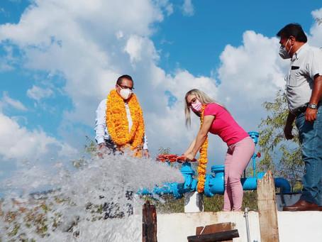 ¡Por fin llegó el agua a la comunidad de Acatempa!