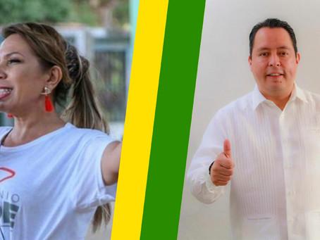 """Lady """"Huateque"""" y Jorge Salgado se unen a MORENA por que ellos nunca han robado."""