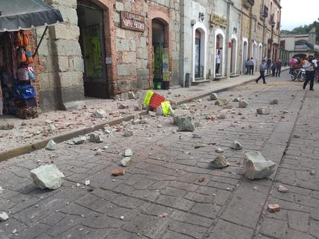 Daños Materiales por sismo de 7.5 en Oaxaca