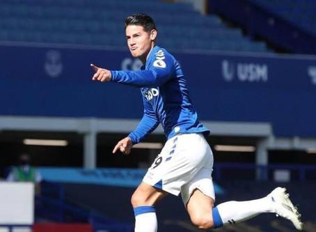 James ¡renació! 🙏🏻 consigue la cima con el Everton ⚽️