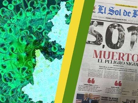 Puebla alcanza en muertes por COVID 🦠 a la CDMX 😞.