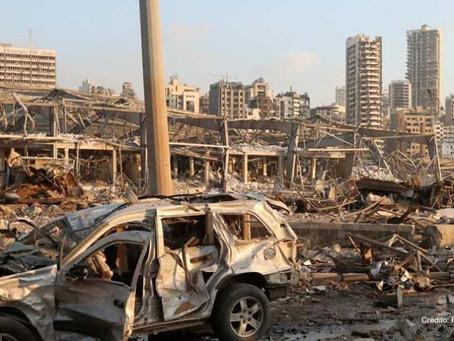 Más de 70 muertos y 3,500 heridos en explosión 💥 en Beirut 🇱🇧.