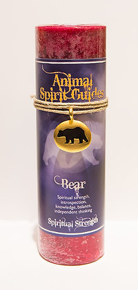 Animal Spirit Guide Pillar Candle with Your Choice of Pendant