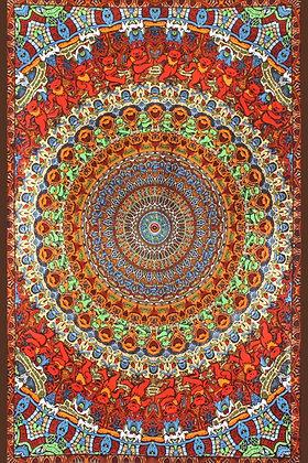 3D Grateful Dead Bear Vibrations Tapestry 60x90