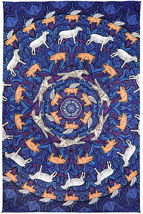3D Pink Floyd Animals Tapestry 60x90