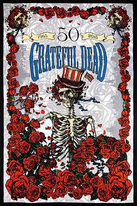3D Grateful Dead 50th Anniversary FTW Tapestry 60x90