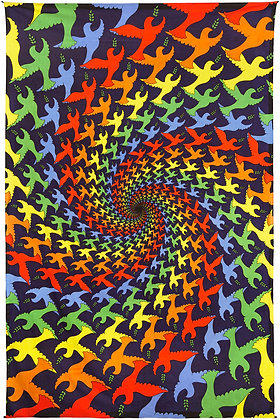 3D Peace Dove Spiral Tapestry 60x90