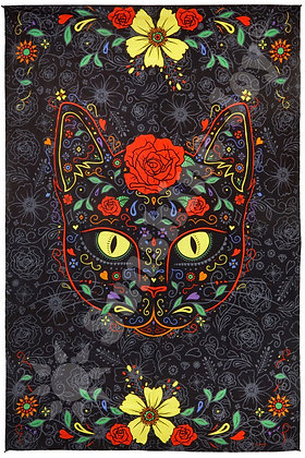 3D Sugar Kitty Tapestry 60x90