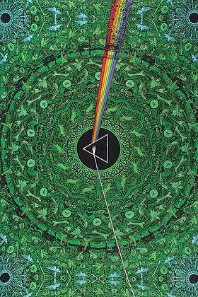 Pink Floyd Dark Side Lyrics Green Tapestry 60x90