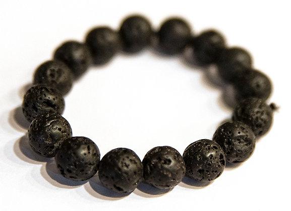 Black Lava Bead Bracelet
