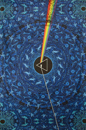 3D Pink Floyd Dark Side Lyrics Blue Tapestry 60x90