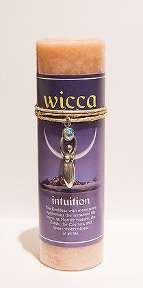 Wicca Pillar Candle with Your Choice of Pendant