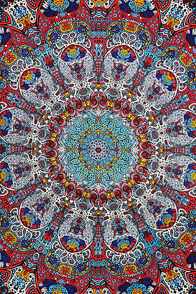 3D Glow in the Dark Sunburst Tapestry 60x90