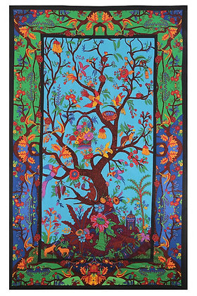 3D Colorful Tree Of Life Tapestry 60x90