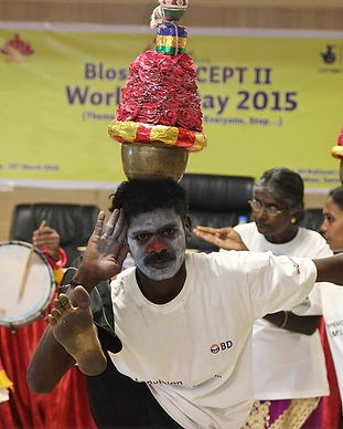 World TB day, TB, tuberculosis, clowns, campaign, rual India, NGO