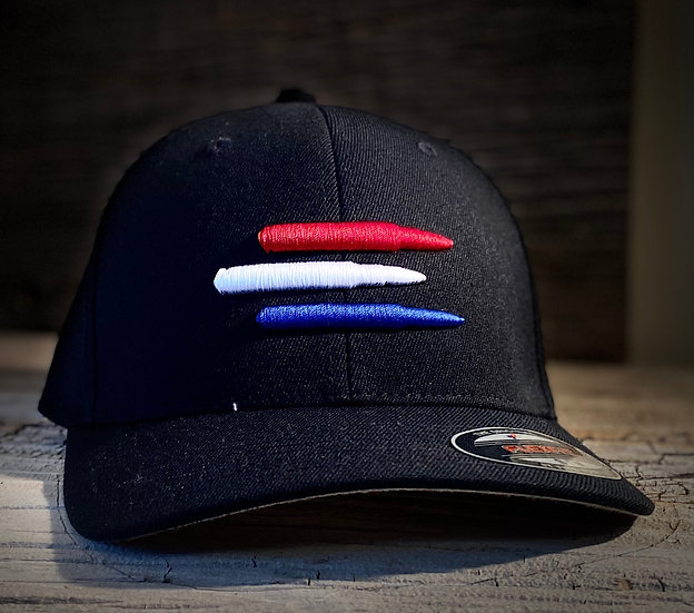 Black With Red, White, Blue