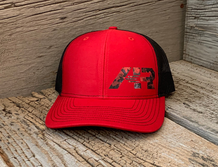 Mesh SnapBack Red Camo on Red