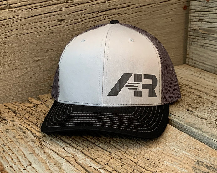 Mesh SnapBack Grey Wood on Three Color