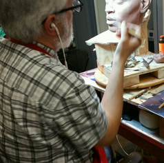 Sculpting Chris Brown