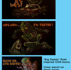 Big Daddy Roth-esque drawings