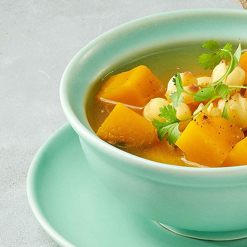 Canh bí đỏ hạt sen / Pumpkin soup with lotus seeds
