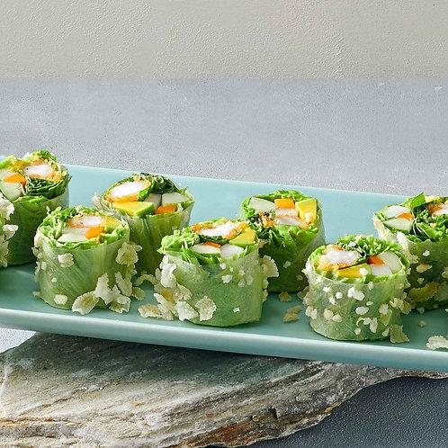 Cuốn tôm chiên giòn với trái bơ/Fresh spring rolls with prawns an