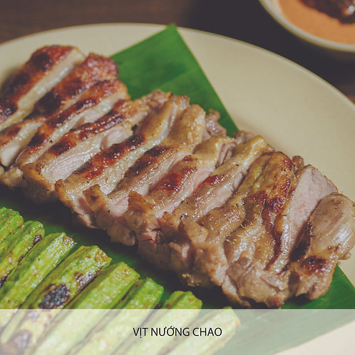 Grilled Duck with fermented tofu or green pepper sauce