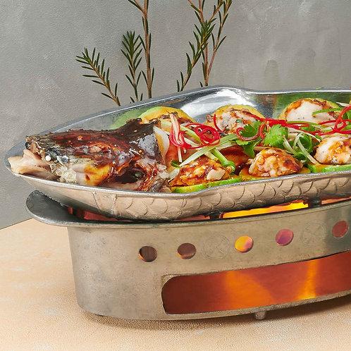 Cá Lóc hấp bầu / Steamed snakehead fish with calabash