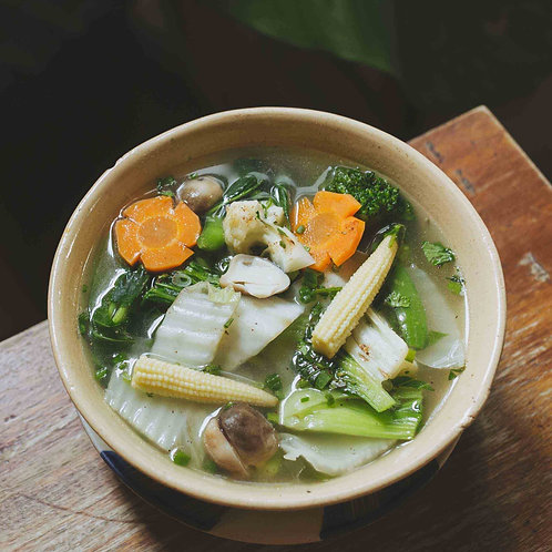 Mixed vegetables soup