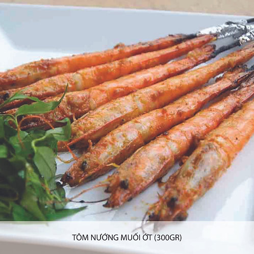 Grilled prawn with salt and chilli